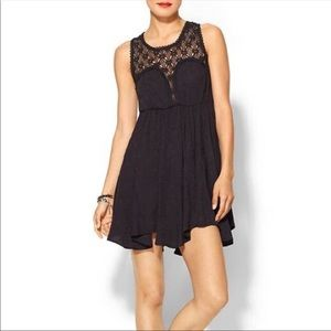 Free People FIESTA Black Lace Back Dress